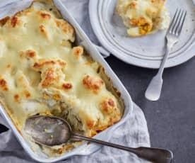 Cauliflower Cheese with Boiled Eggs