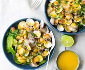 Salade de pommes de terre aux coques