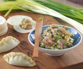 鮮蝦韭菜水餃