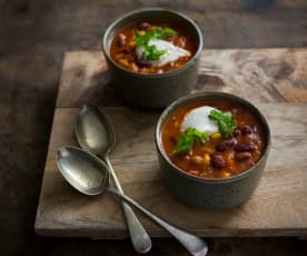 Smoky Mexican bean soup
