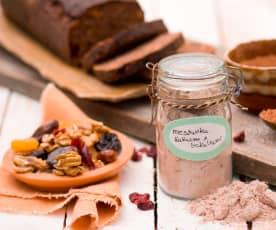 Miscela di farina al cacao e frutta secca