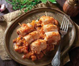 Spiedini di pollo alla provenzale