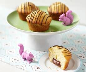 Muffinki z nadzieniem czekoladowym