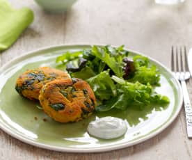 Sweet Potato and Spinach Cakes