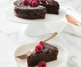 Health by chocolate torte