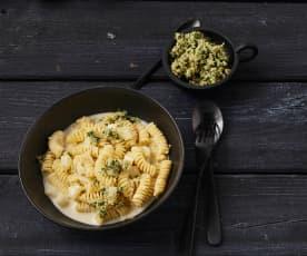 Pasta mit Gorgonzola und Birne