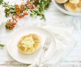 Bacalhau no pão gratinado