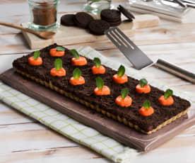 Tarta huerto de zanahorias
