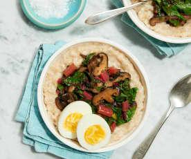 Savory Oatmeal with Sautéed Mushrooms