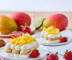 Tiramisù crema di ricotta e mango