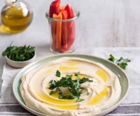 Hummus z warzywami - wersja podstawowa