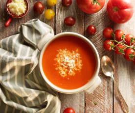 Kaşar Peynirli Domates Çorbası