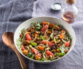 Sweet potato and grain salad