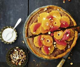 Lebkuchenwähe mit Zitrusfrüchten