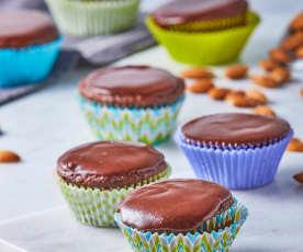 Muffin vegano de chocolate y almendra