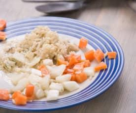 Fetakäse-Gemüse-Sauce