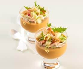 Pannacotta de bisque de homard aux pinces de crabe