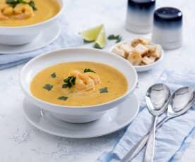 Krevetová polévka s batáty