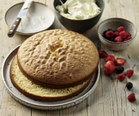 Sponge cake (luchtige cake)
