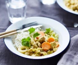 Curry de poulet automnal