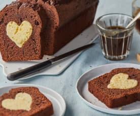 Cake au chocolat au cœur de vanille