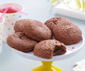 Biscuits croquants choco coeur tendre caramel