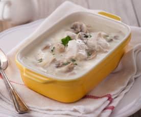 法式白醬蘑菇雞