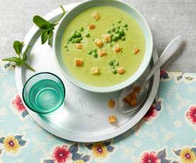 Erbsen-Minz-Suppe
