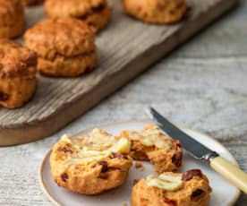 Chorizo, Red Pepper and Paprika Scones