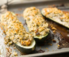 Stuffed Courgettes - Zucchine farcite