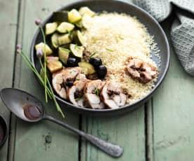 Cuisse de lapin farcie aux olives
