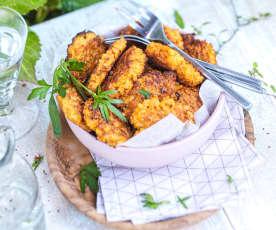 Miniröstis de carottes nouvelles au cumin