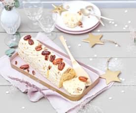 Bûche glacée vanille-noix de pécan