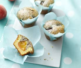 Pfirsich-Mohn-Muffins