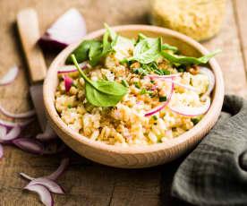 Salade de blé aux épinards et à la pomme
