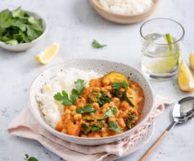 Wegańskie curry z cytrynowym ryżem