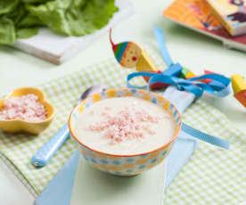 Zupa krem ziemniaczana z szynką i sałatą (dla dzieci)