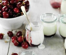 Iogurtes de cereja