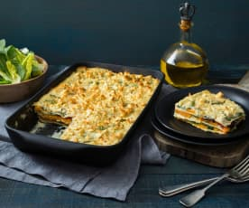 Cauliflower and sweet potato lasagne