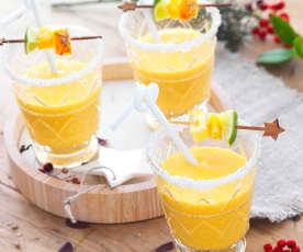 Virgin mango piña colada (cocktail sans alcool)