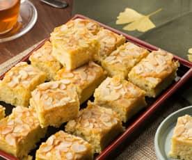 Pasteles de pistacho y coco