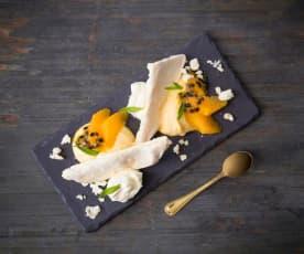 Orange and passionfruit Eton mess