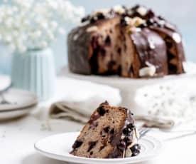 Ciasto czekoladowo-waniliowe z galaretką porzeczkową