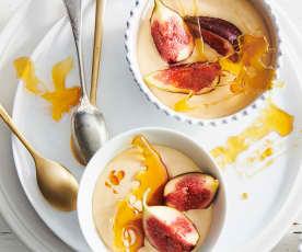 Crème caramel aux figues