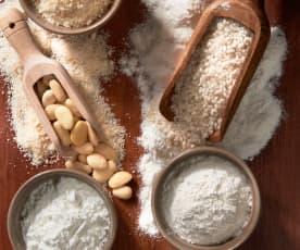 Mezcla de harinas sin gluten para repostería