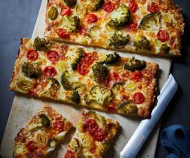 Dinkel-Pizza mit Gemüse