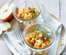 Pikanter Möhren-Kohlrabi-Salat