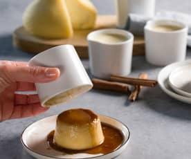 Flan de queso tetilla con reducción de licor de café