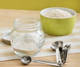 Harina de arroz precocida
