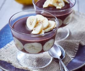 Bananen-Schoki-Pudding